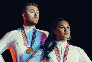 Sam Smith e Demi Lovato na parceria 'I'm Ready'.